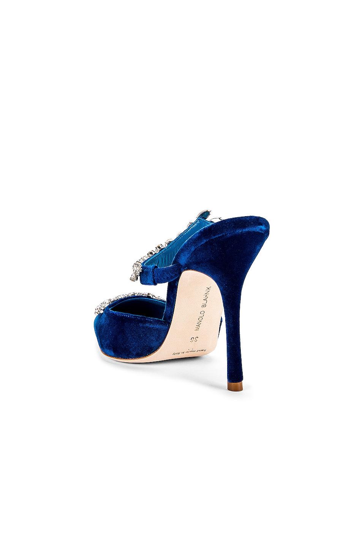 Image 4 of Manolo Blahnik Lurum 105 Velvet Heel in Blue