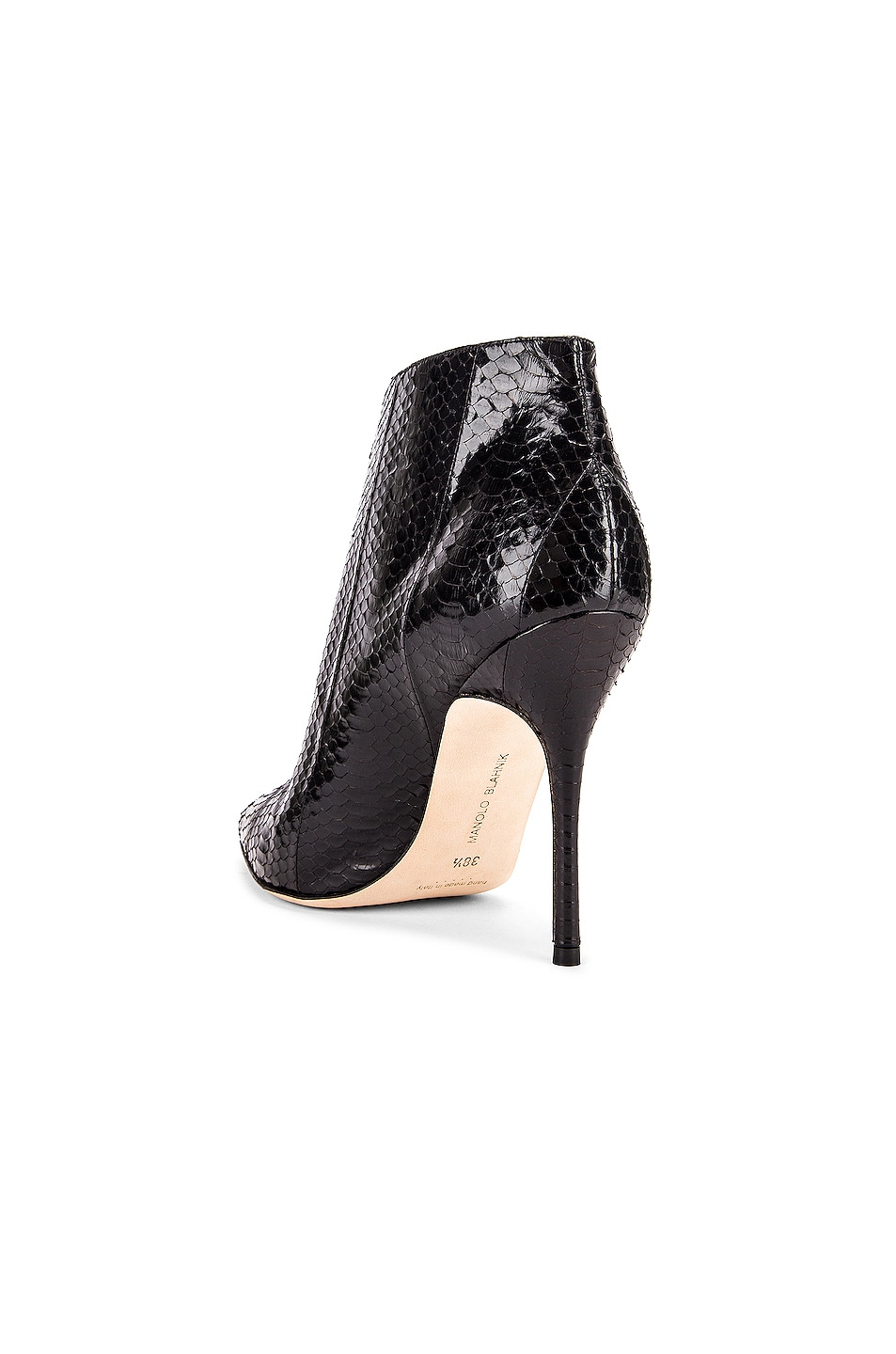 Image 3 of Manolo Blahnik Ifima 105 Bootie in Black Snake