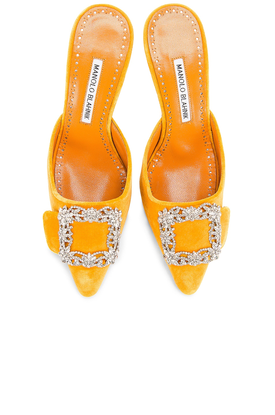 Image 1 of Manolo Blahnik Maysale Jewel 40 Mule in Yolk
