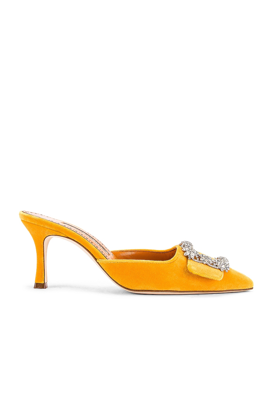 Image 2 of Manolo Blahnik Maysale Jewel 40 Mule in Yolk