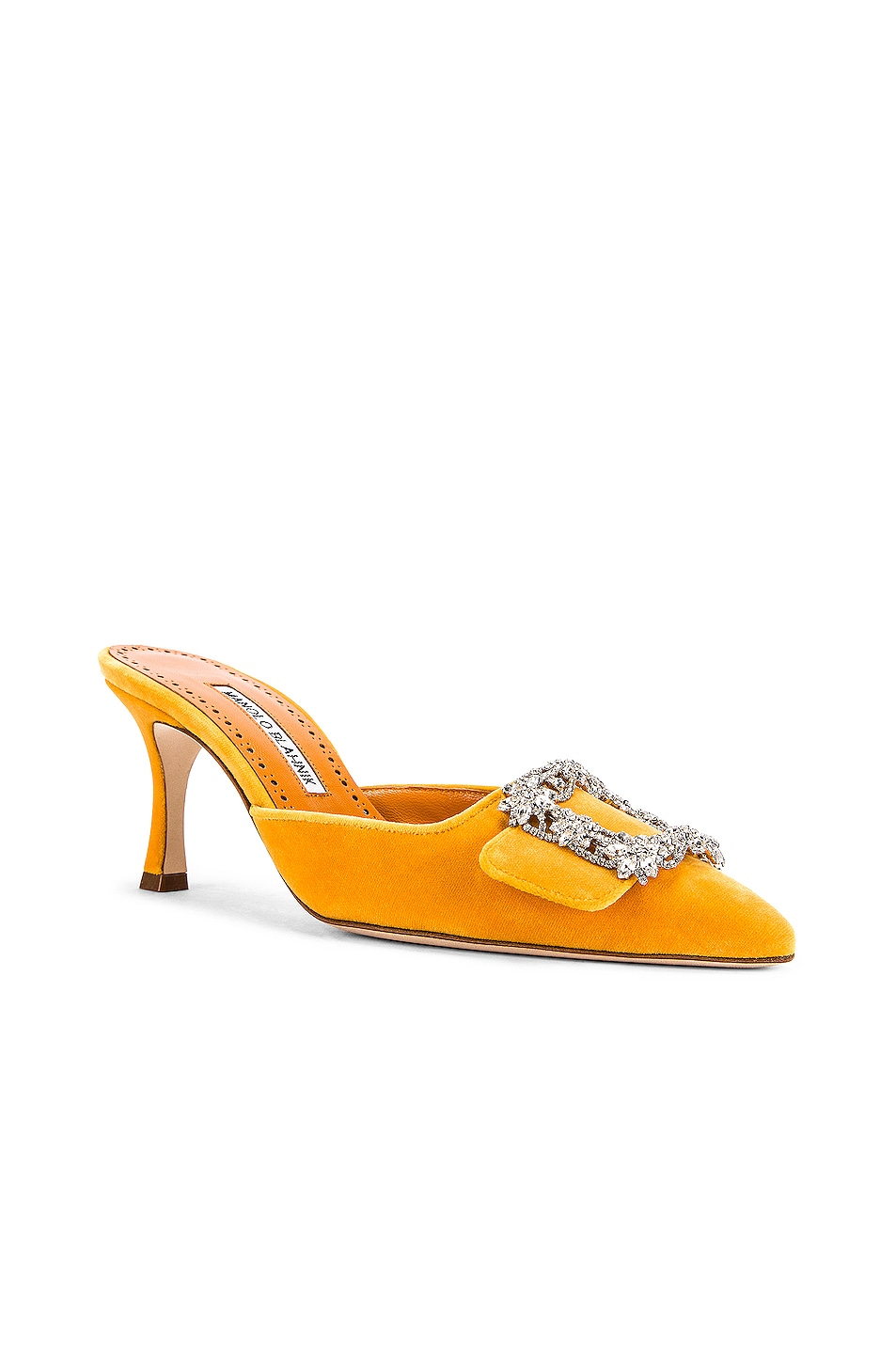 Image 3 of Manolo Blahnik Maysale Jewel 40 Mule in Yolk