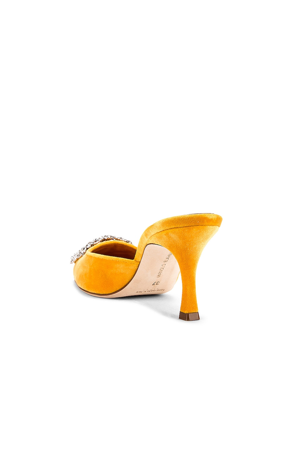 Image 4 of Manolo Blahnik Maysale Jewel 40 Mule in Yolk