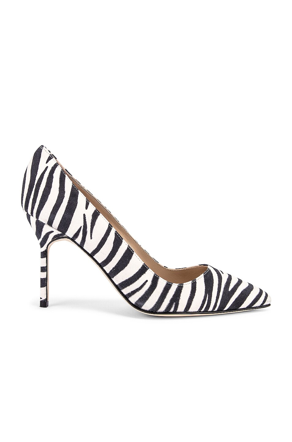 Image 1 of Manolo Blahnik BB 90 Pump in Zebra