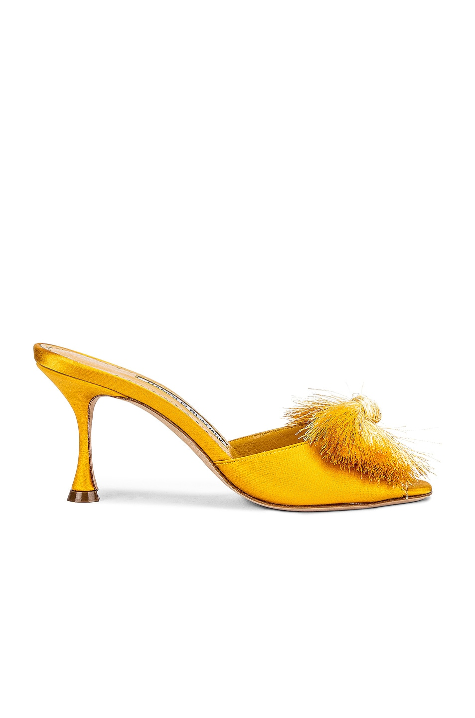 Image 1 of Manolo Blahnik Railda 70 Sandal in Yellow