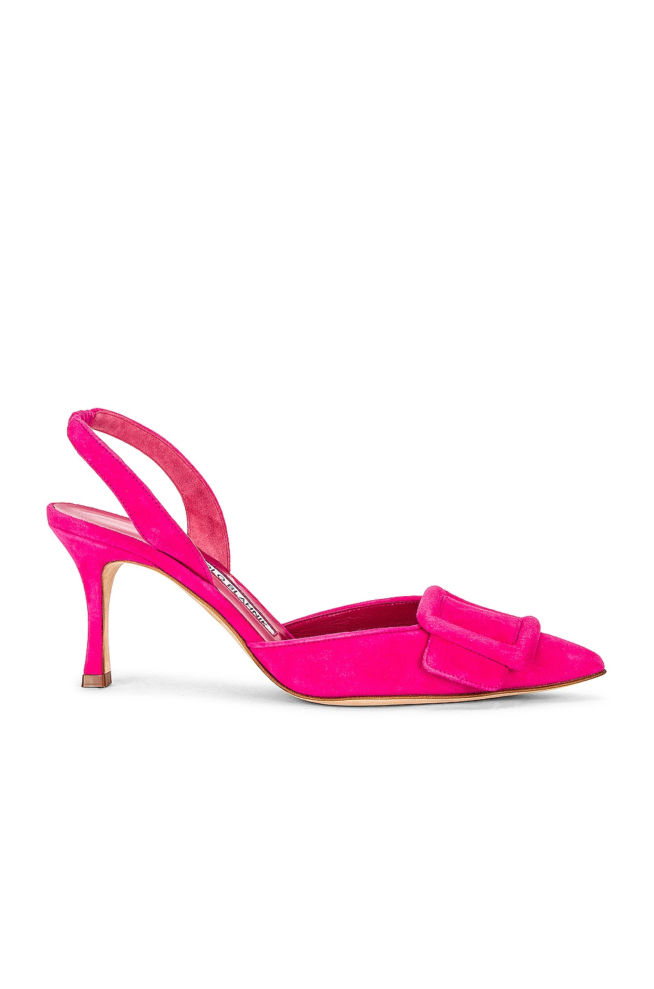 Image 1 of Manolo Blahnik May 70 Slingback in Bright Pink