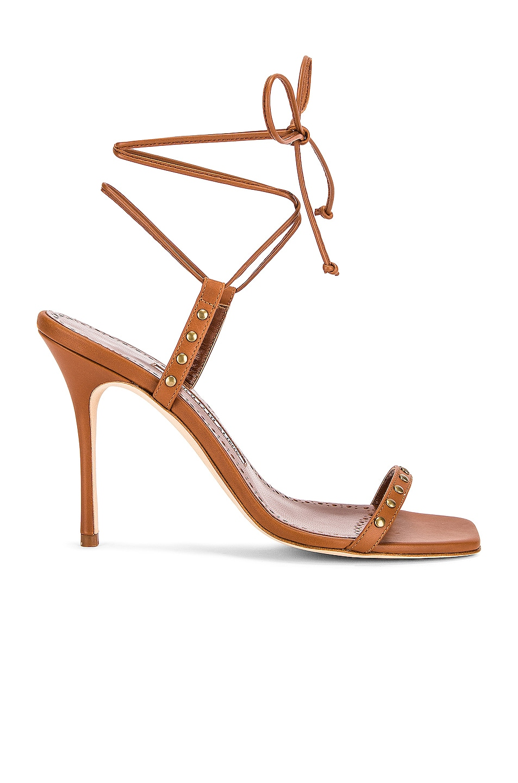 Image 1 of Manolo Blahnik Morata 105 Sandal in Brown