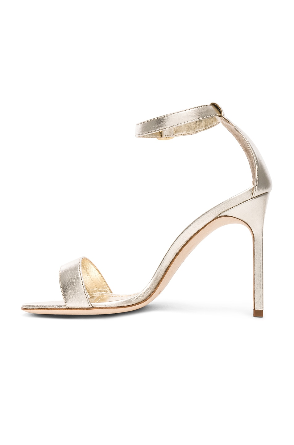 Image 5 of Manolo Blahnik Leather Chaos 105 Heels in Light Gold Leather
