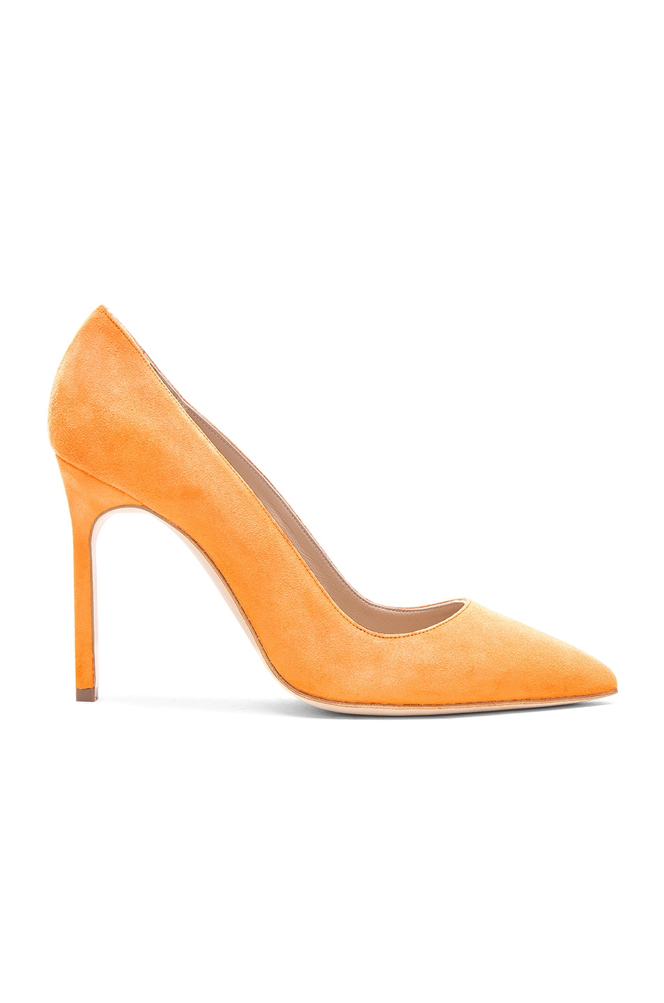 Free Shipping Cheap Price Orange BB 105 Satin Pumps - Yellow & Orange Manolo Blahnik Discount Enjoy rafeFX