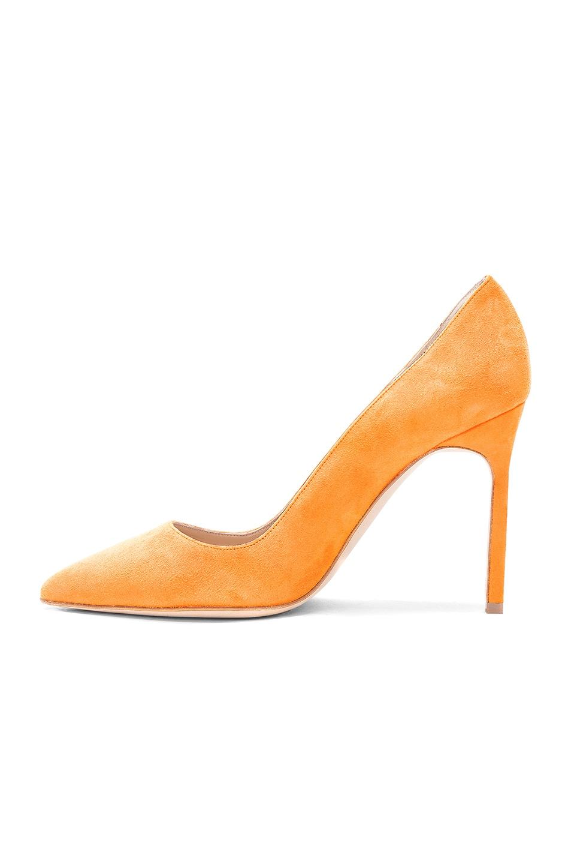Manolo Blahnik Suede BB 105 Heels in ,Neon.