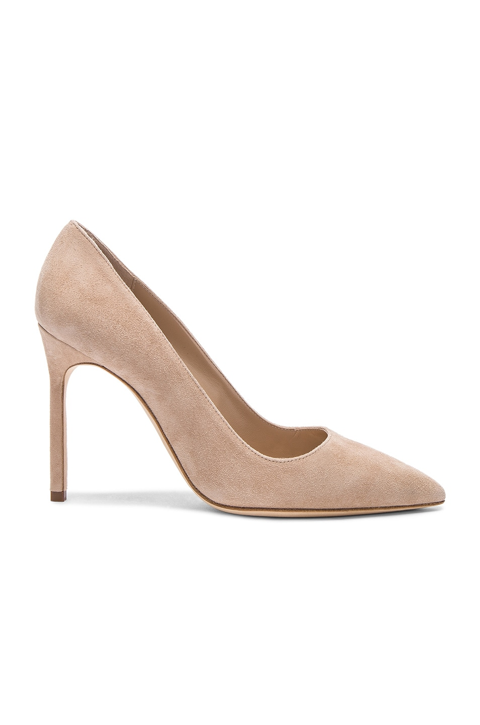 0afac7815a83 Image 1 of Manolo Blahnik BB 105 Suede Pumps in Nude Suede
