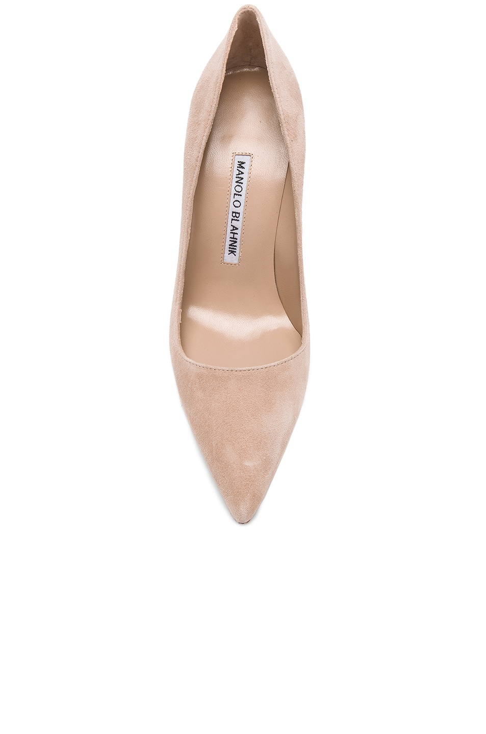 Image 4 of Manolo Blahnik BB 105 Suede Pumps in Nude Suede