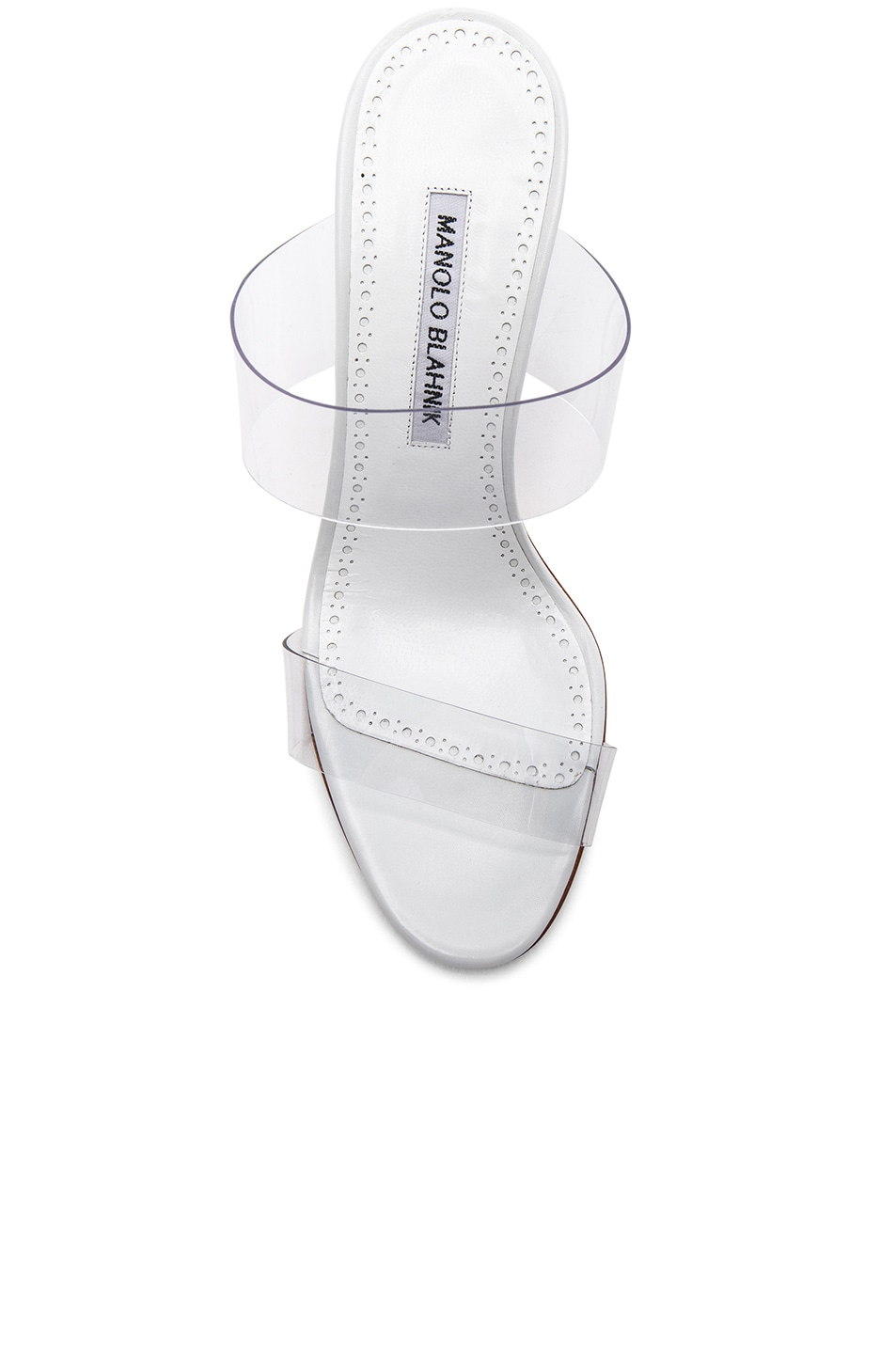 Image 4 of Manolo Blahnik PVC Scolto Sandals in White Leather