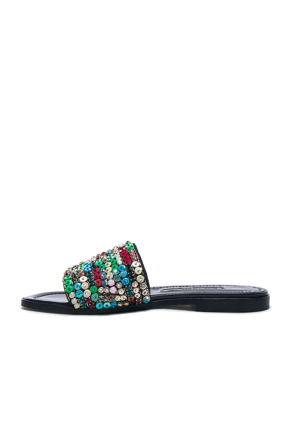 Image 5 of Manolo Blahnik Gioiosa Slide in Black & Multi