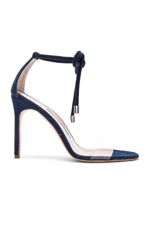 Image 1 of Manolo Blahnik Estro 105 Sandal in Blue