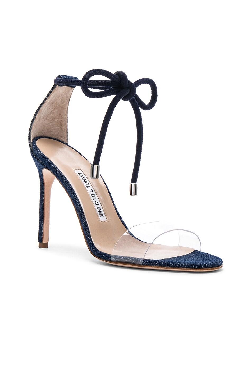 Image 2 of Manolo Blahnik Estro 105 Sandal in Blue