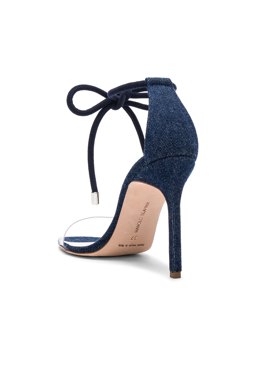 Image 3 of Manolo Blahnik Estro 105 Sandal in Blue