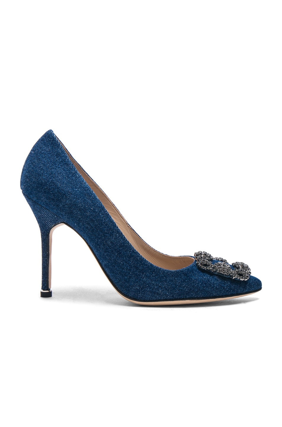 Image 1 of Manolo Blahnik Hangisi 105 Heel in Blue