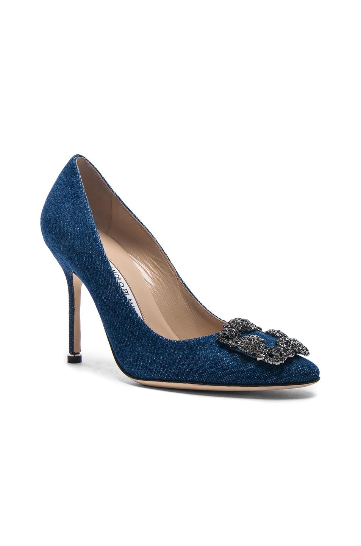 Image 2 of Manolo Blahnik Hangisi 105 Heel in Blue