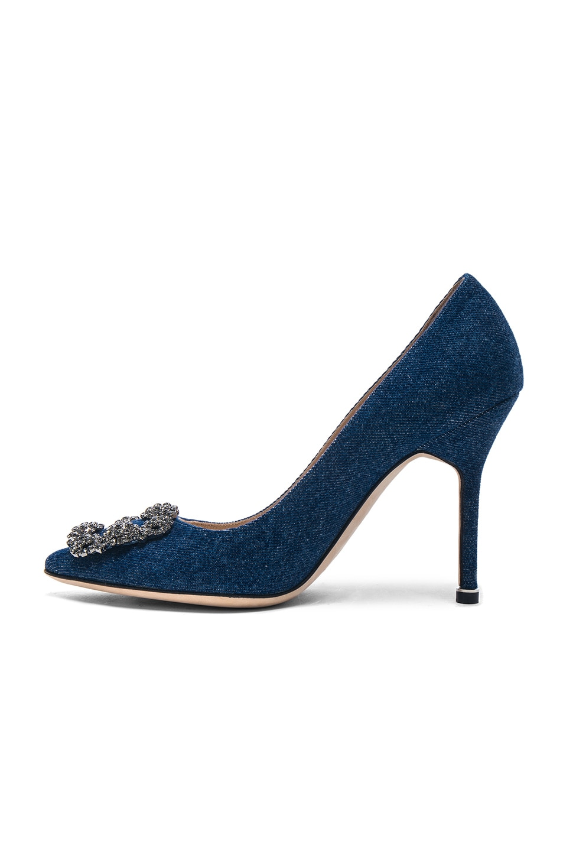 Image 5 of Manolo Blahnik Hangisi 105 Heel in Blue