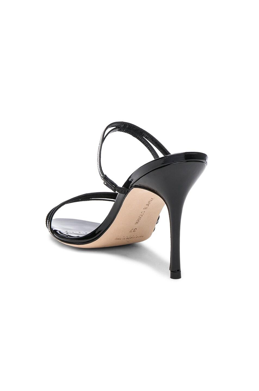 Image 3 of Manolo Blahnik Andena 90 Sandal in Black Patent