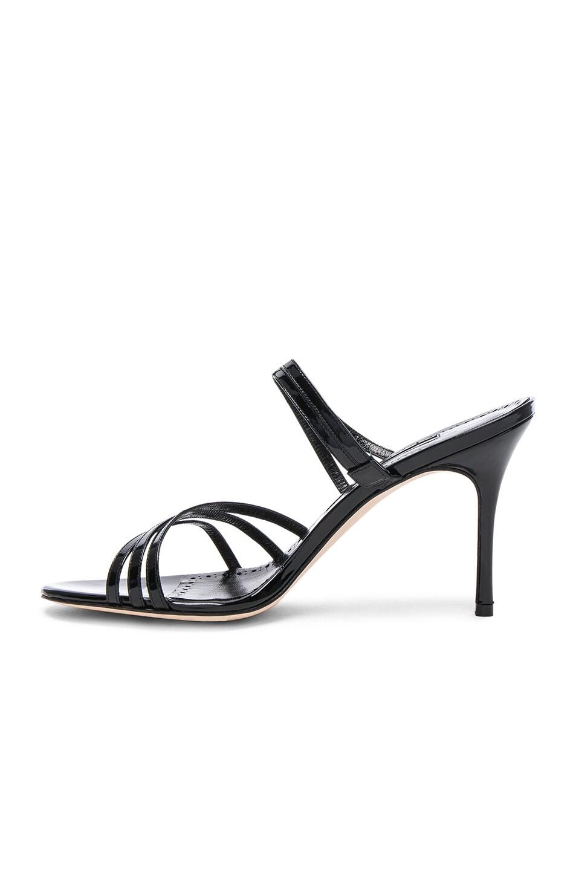 Image 5 of Manolo Blahnik Andena 90 Sandal in Black Patent