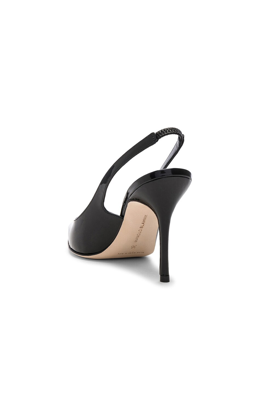 Image 3 of Manolo Blahnik Patent Leather Allura 90 Sandals in Black Patent