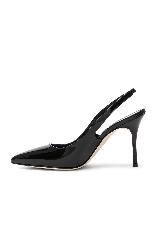 Image 5 of Manolo Blahnik Patent Leather Allura 90 Sandals in Black Patent