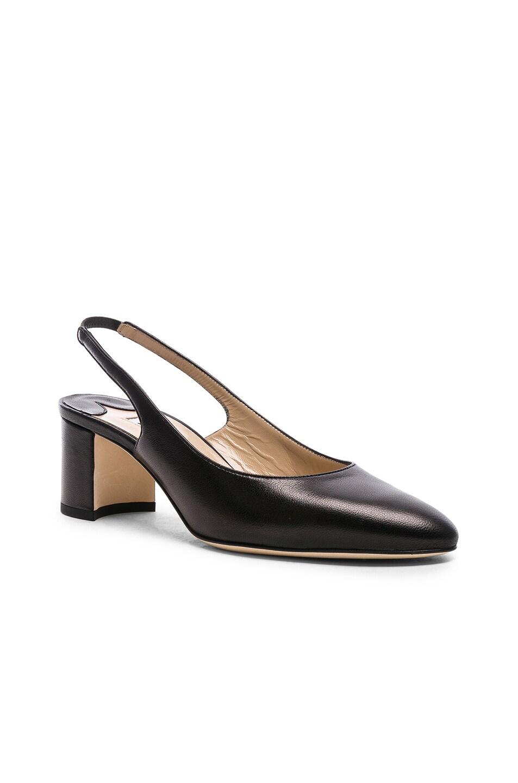 Image 2 of Manolo Blahnik Leather Allurasa 50 Heels in Black Nappa