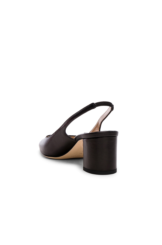 Image 3 of Manolo Blahnik Leather Allurasa 50 Heels in Black Nappa