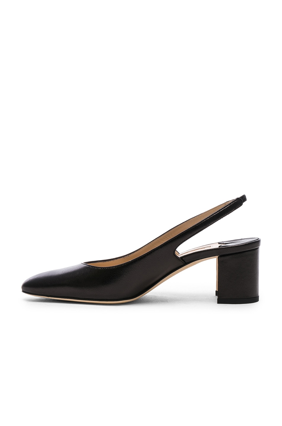 Image 5 of Manolo Blahnik Leather Allurasa 50 Heels in Black Nappa