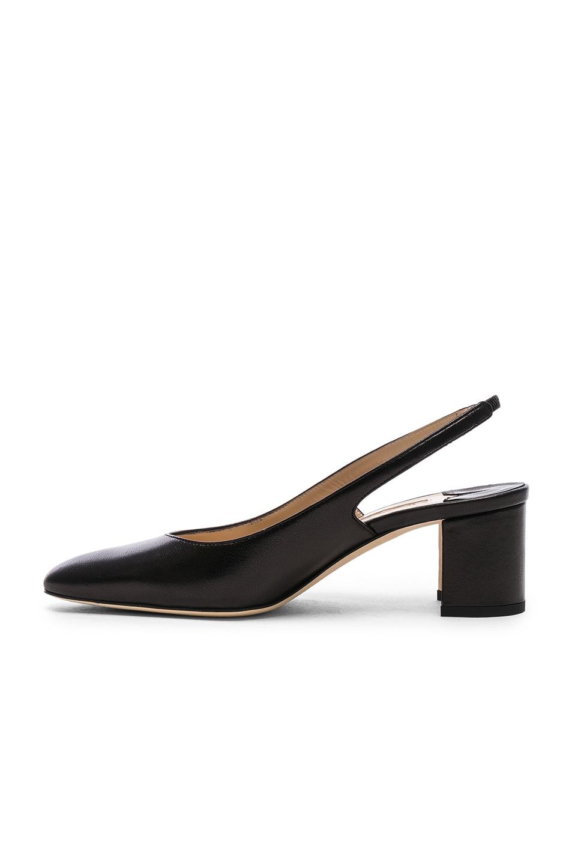 Image 5 of Manolo Blahnik Leather Allurasa 50 Heels in Black Nappa