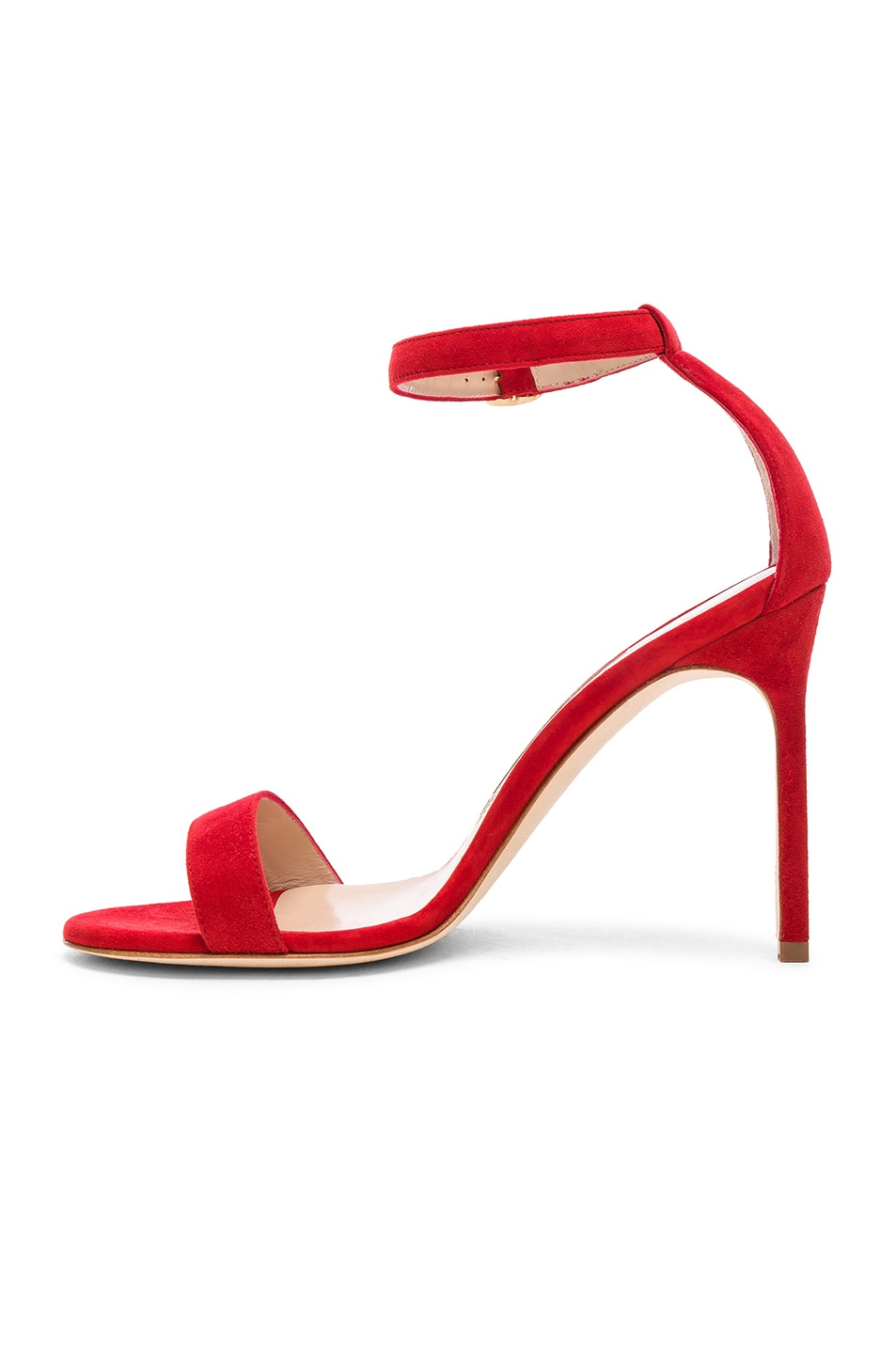 Image 5 of Manolo Blahnik Suede Chaos 105 Sandals in Red Suede