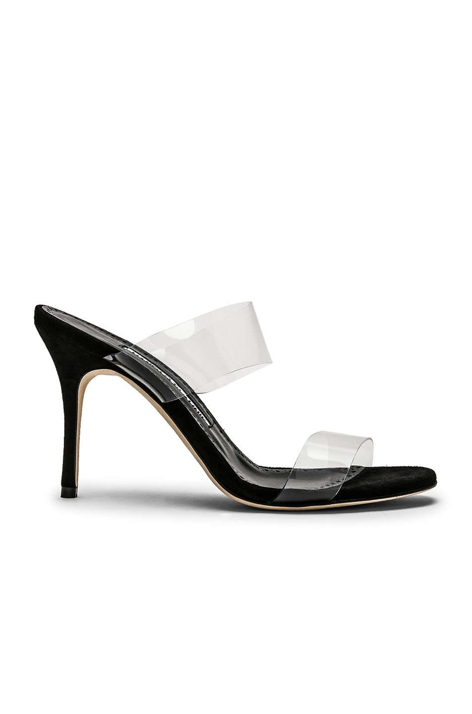 525b498d96d6 Image 1 of Manolo Blahnik PVC Scolto 90 Sandal in Black