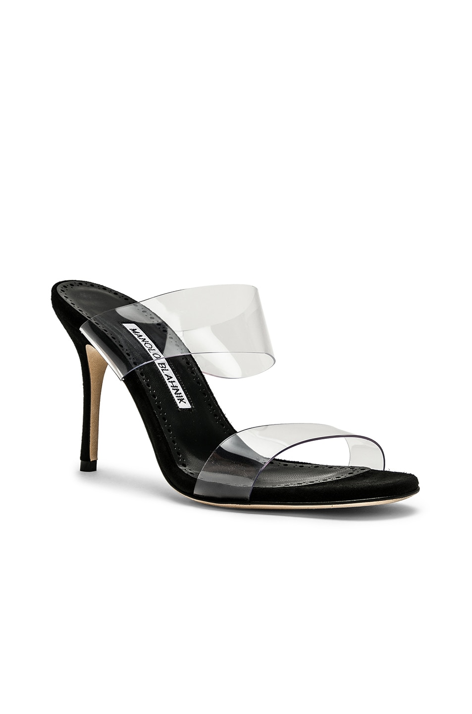 Image 2 of Manolo Blahnik PVC Scolto 90 Sandal in Black
