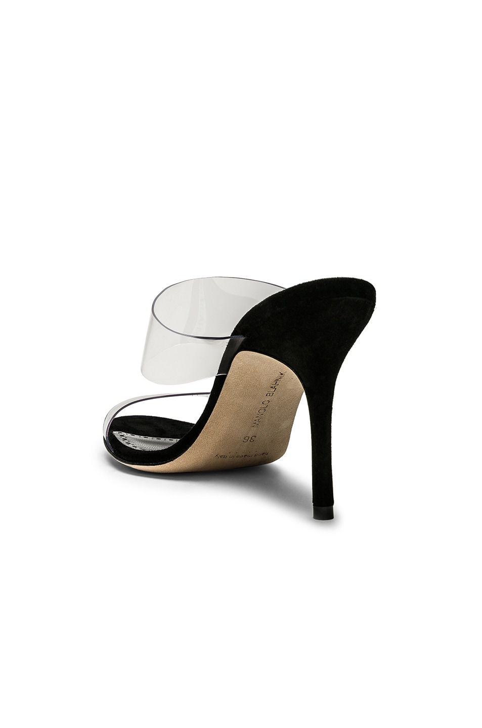 Image 3 of Manolo Blahnik PVC Scolto 90 Sandal in Black