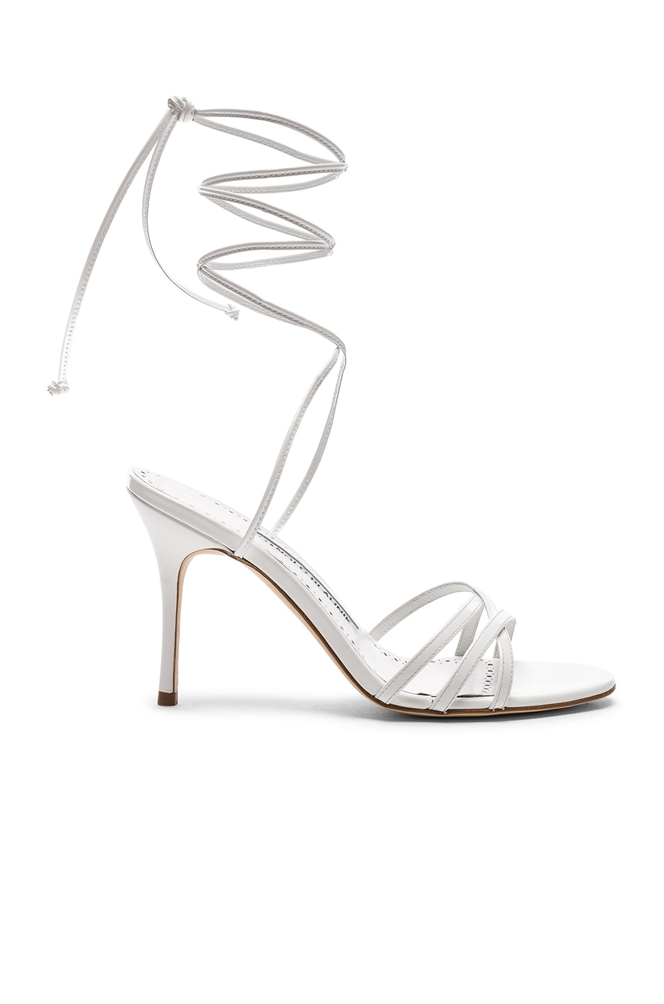 Image 1 of Manolo Blahnik Leva 90 Sandal in White
