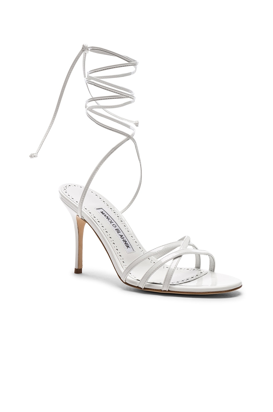 Image 2 of Manolo Blahnik Leva 90 Sandal in White