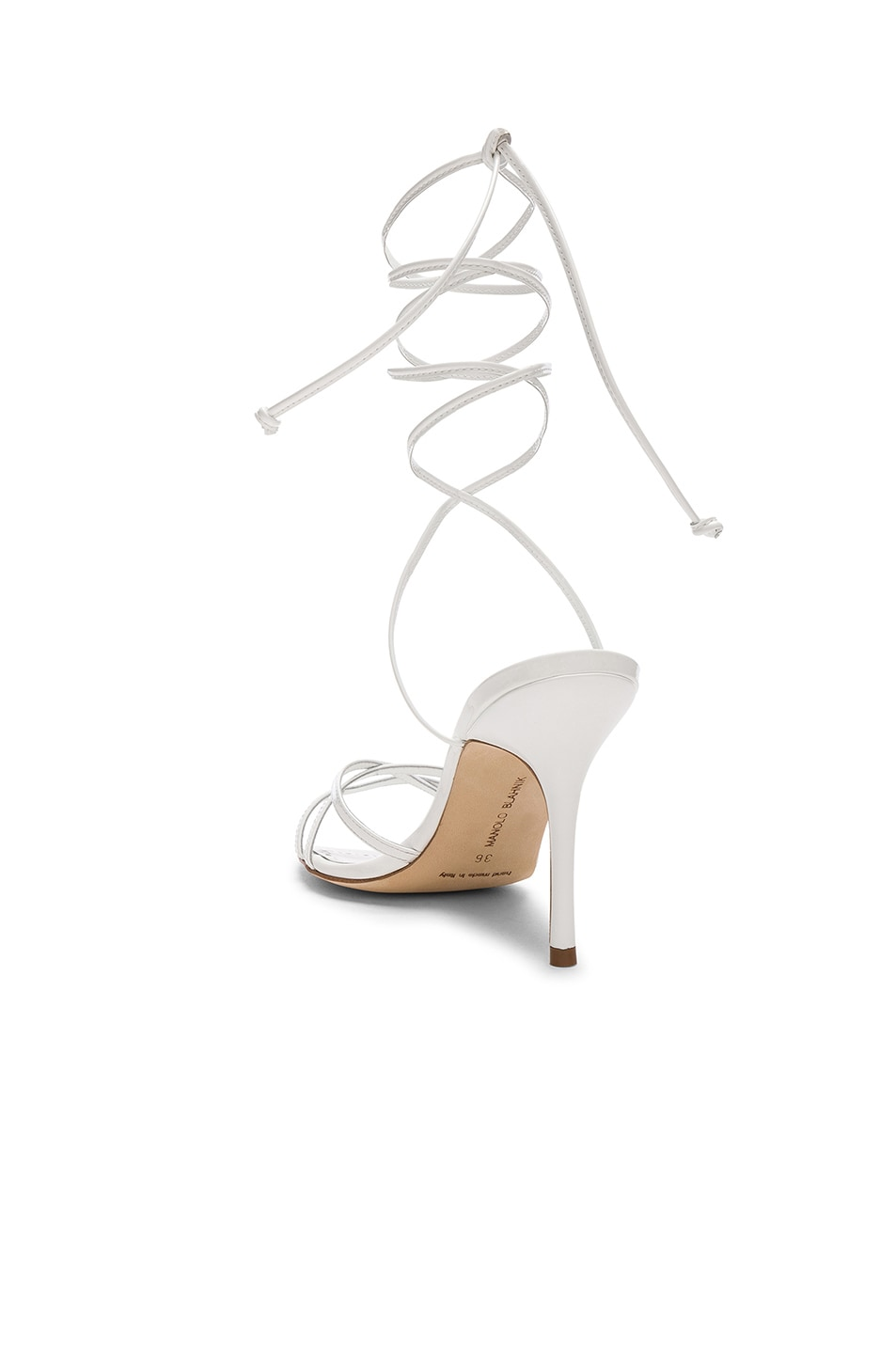 Image 3 of Manolo Blahnik Leva 90 Sandal in White
