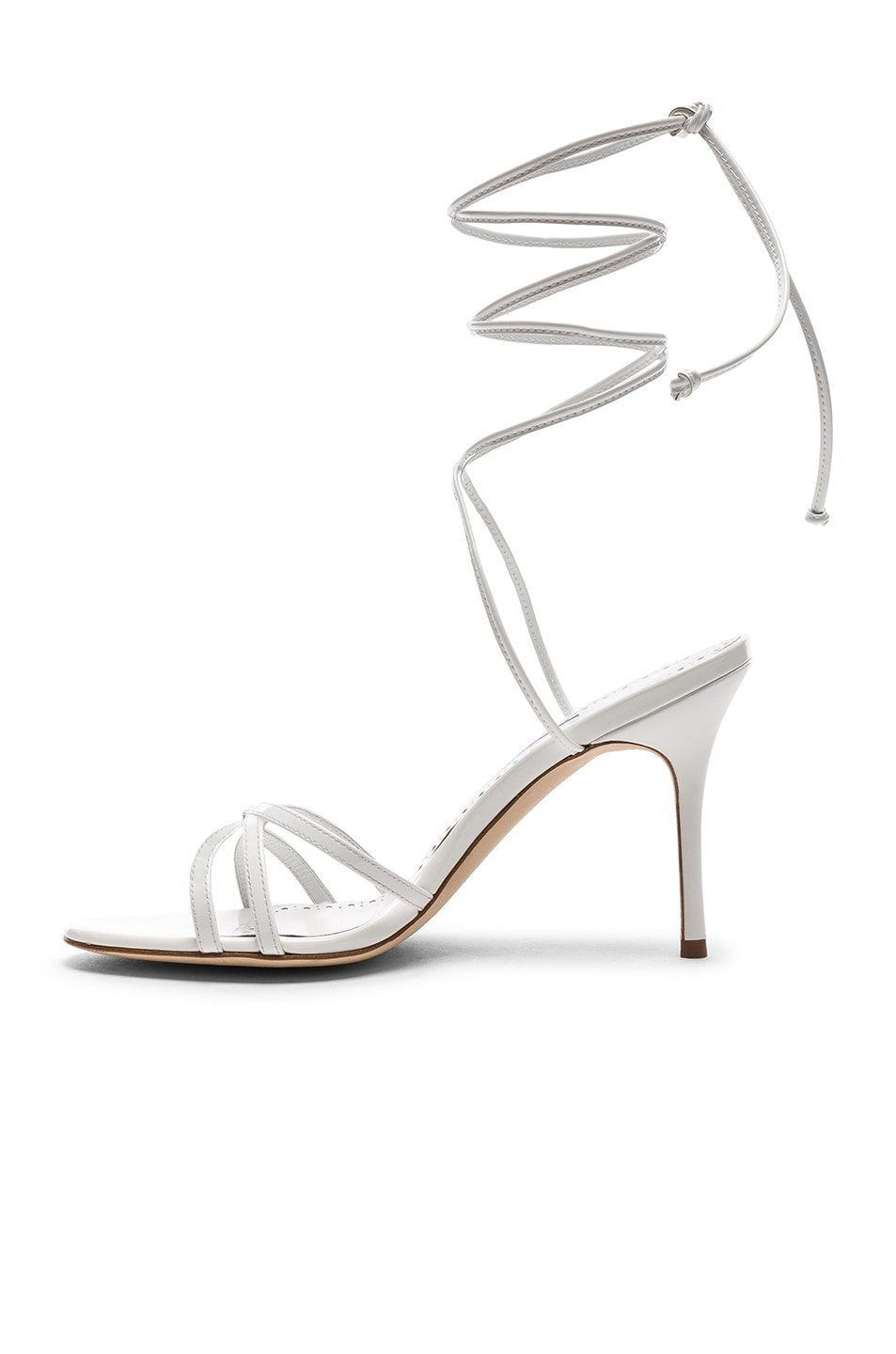 Image 5 of Manolo Blahnik Leva 90 Sandal in White