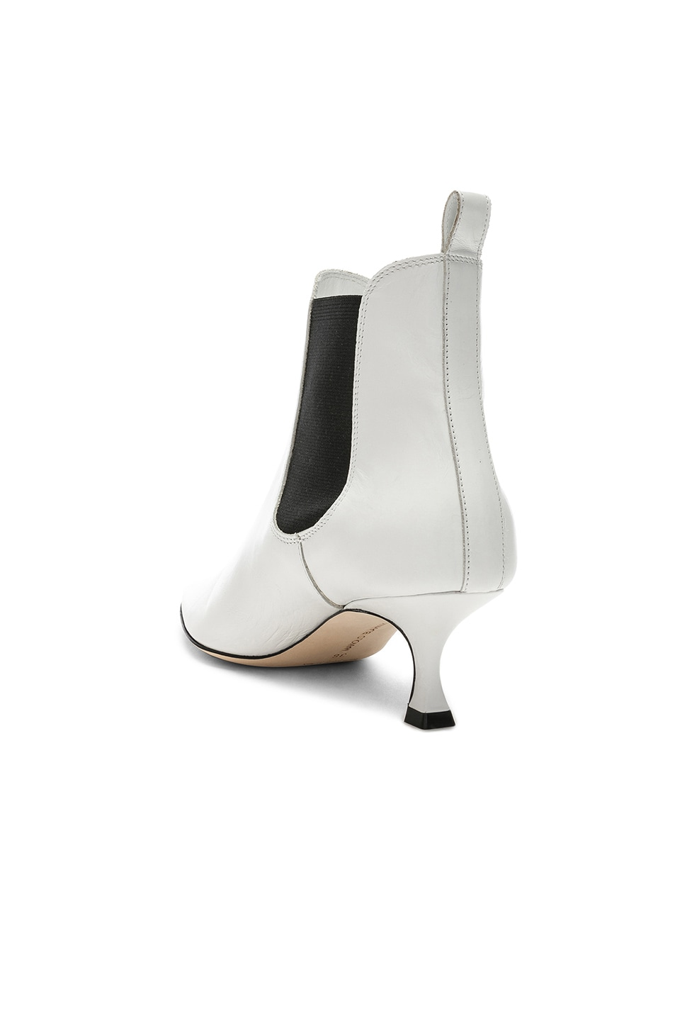 Image 3 of Manolo Blahnik Leather Chelsa 50 Boots in White