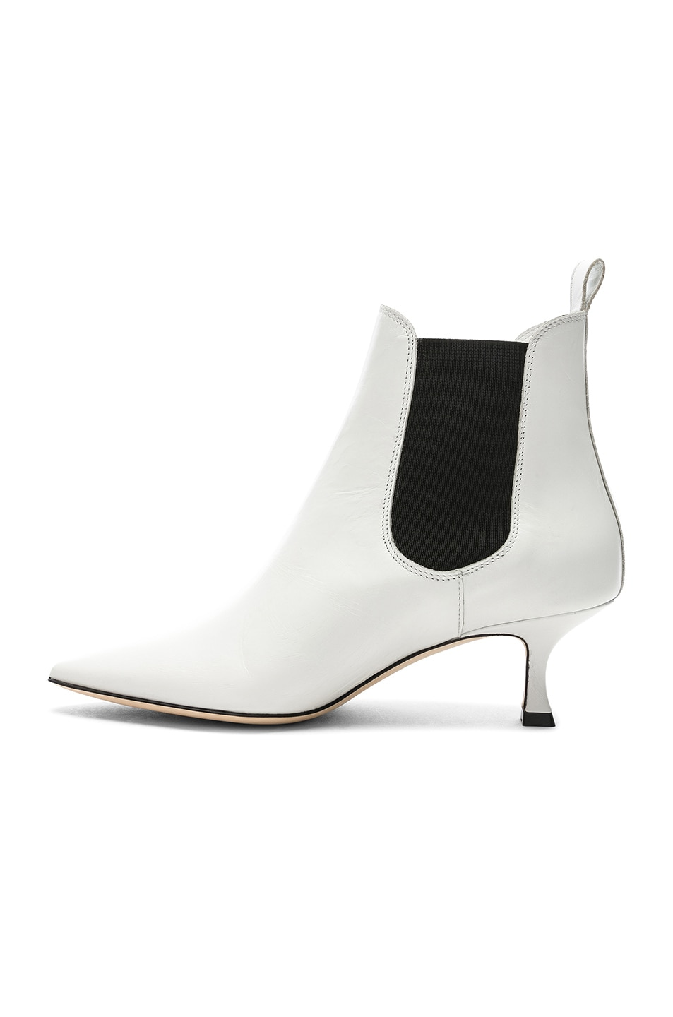 Image 5 of Manolo Blahnik Leather Chelsa 50 Boots in White