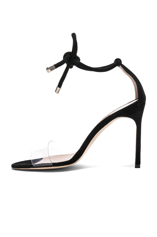 Image 5 of Manolo Blahnik Suede Estro 105 Sandals in Black Suede