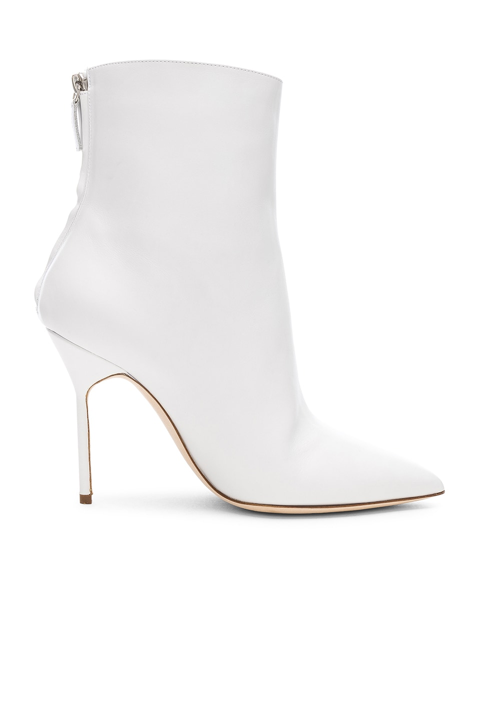 Image 1 of Manolo Blahnik Leather Zarinanu 105 Boots in White