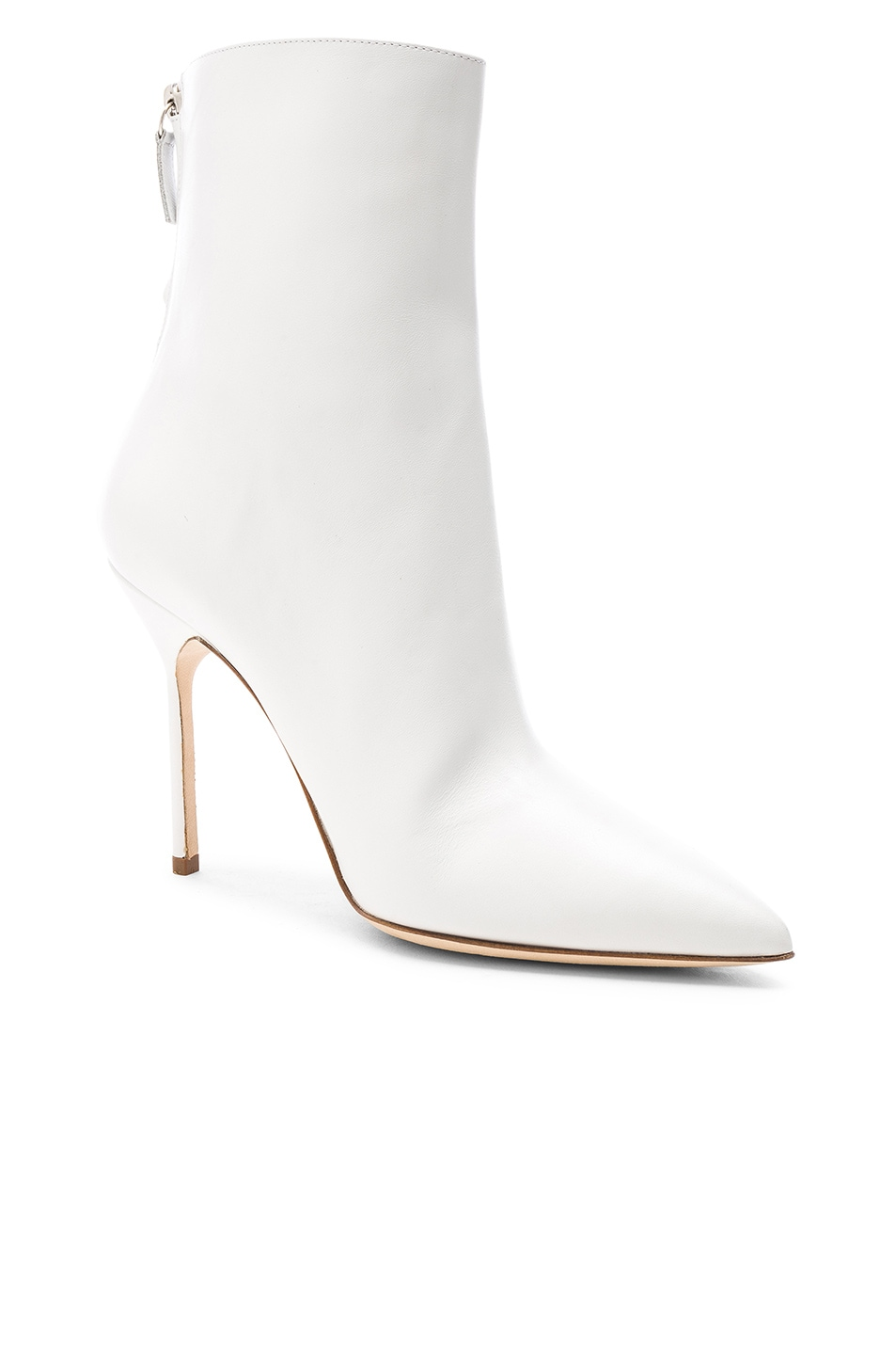 Image 2 of Manolo Blahnik Leather Zarinanu 105 Boots in White