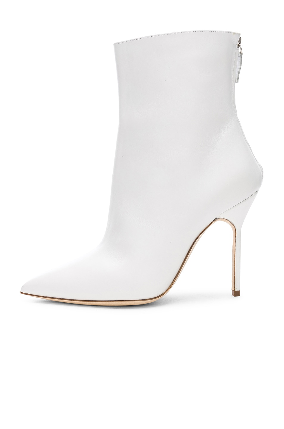 Image 5 of Manolo Blahnik Leather Zarinanu 105 Boots in White