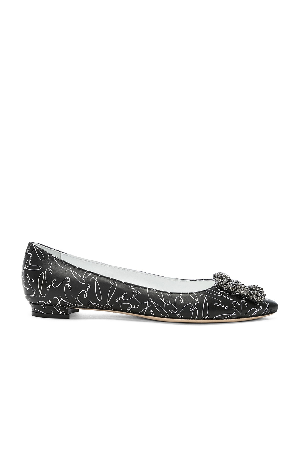 Image 1 of Manolo Blahnik A Decade of Love Hangisi Flat in Black