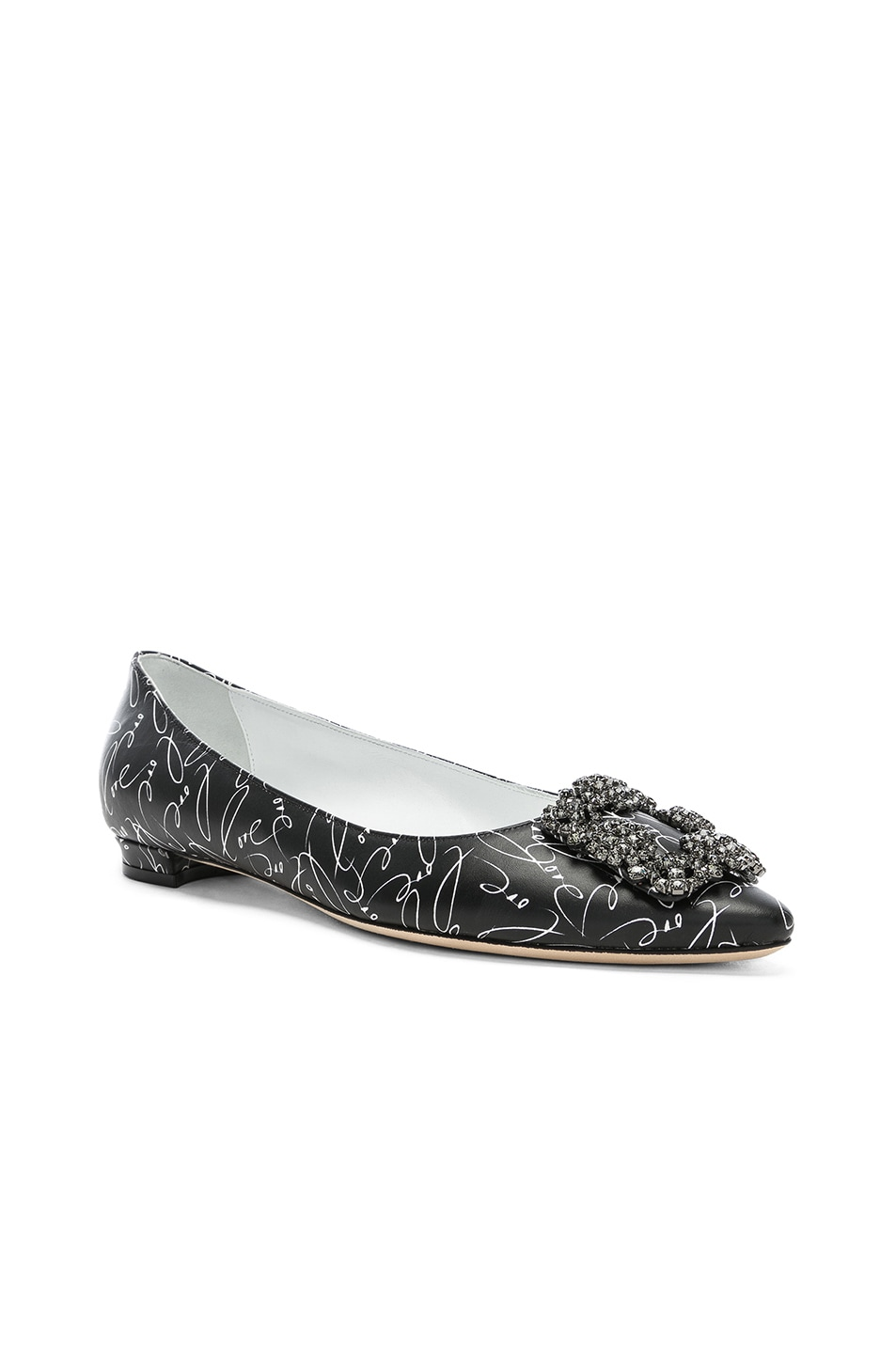 Image 2 of Manolo Blahnik A Decade of Love Hangisi Flat in Black