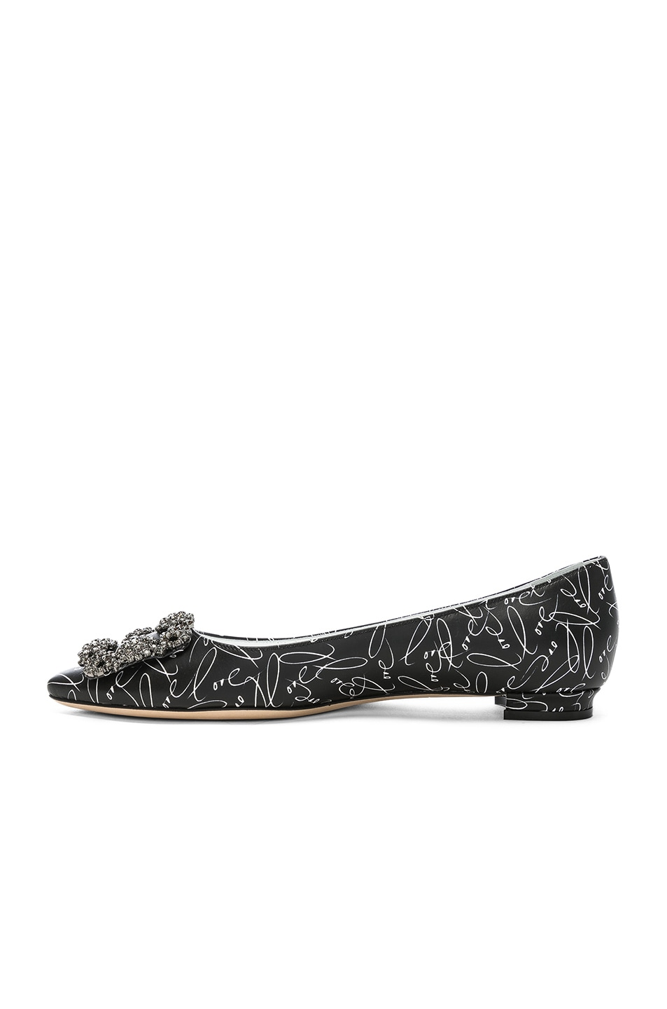 Image 5 of Manolo Blahnik A Decade of Love Hangisi Flat in Black