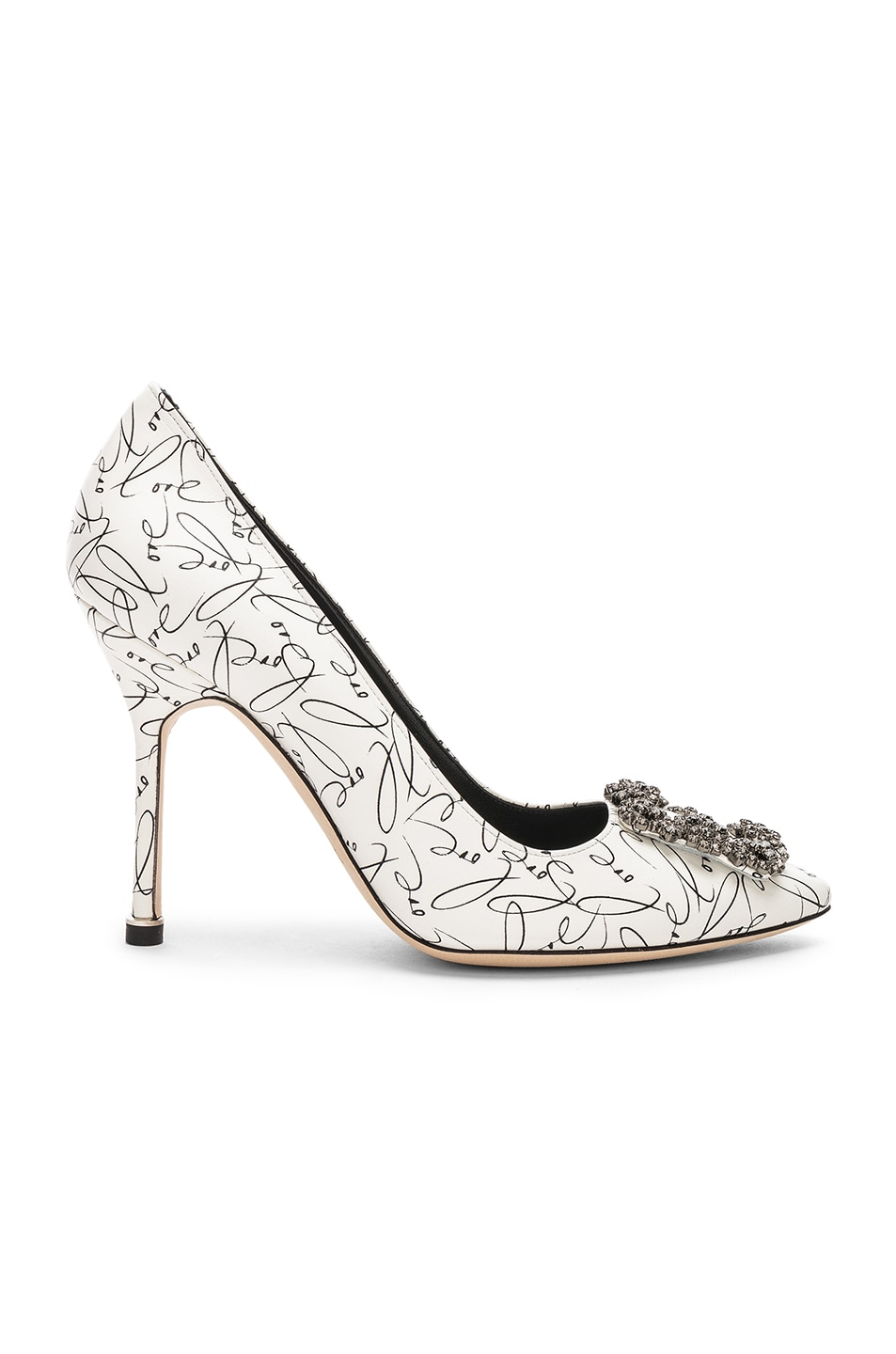 Image 1 of Manolo Blahnik 105mm A Decade of Love Hangisi Heel in White
