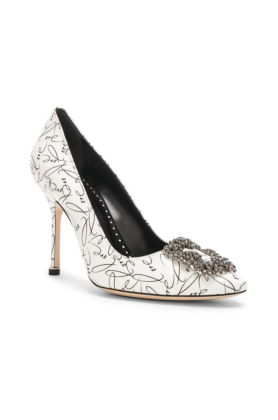 Image 2 of Manolo Blahnik 105mm A Decade of Love Hangisi Heel in White
